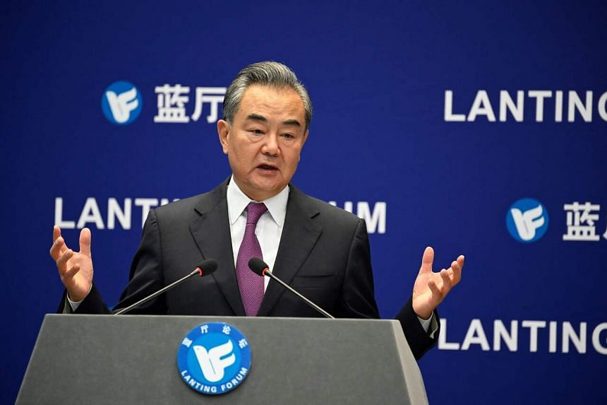 """""""Today's China is no longer the same country of 100 years ago,"""" Mr Wang Yi said."""