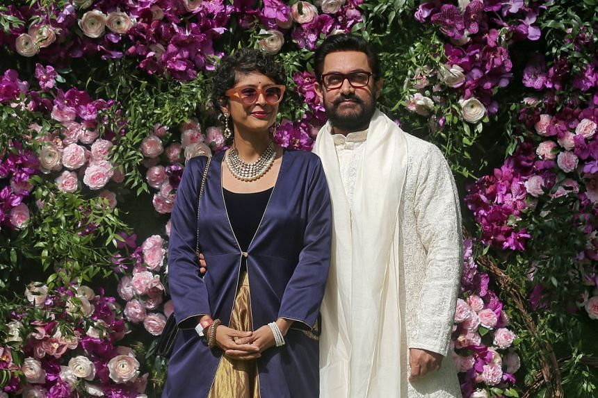 Aamir Khan (right) and Kiran Rao released a statement saying they would raise their son together and still work on joint projects.