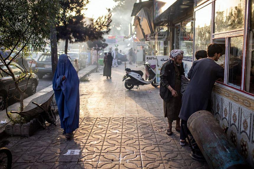The Shahre Naw neighbourhood in Kabul, Afghanistan, on July 2, 2021.