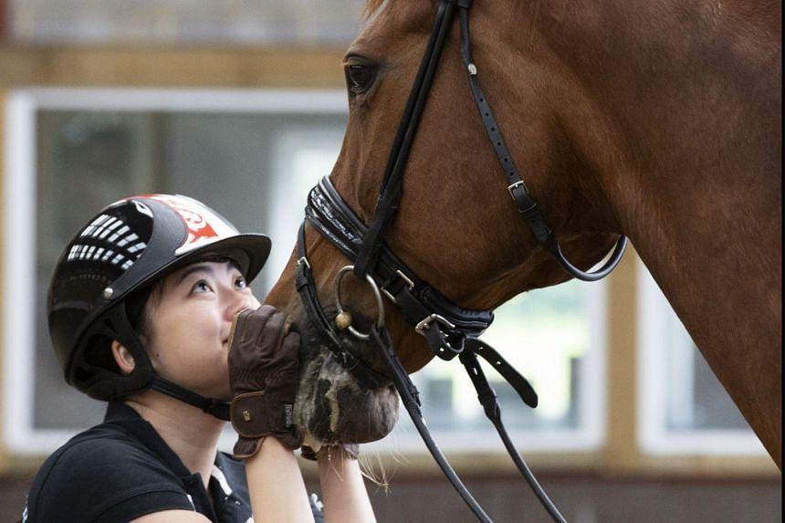 Rider Caroline Chew and her horse named Tribiani.