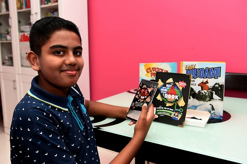 Primary 6 pupil Jehvesh Sharman James Segar has been exploring transmedia books since early this year.