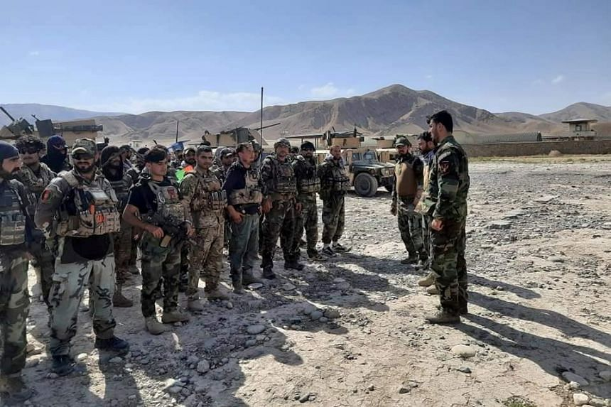 Afghan Commandos arrive to reinforce the security forces in Badakhshan, which borders both Tajikistan and China, on July 4, 2021.