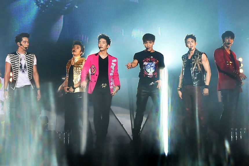 2PM had held a concert in Singapore in November 2011, but it is not known which hotel they were staying in at the time.