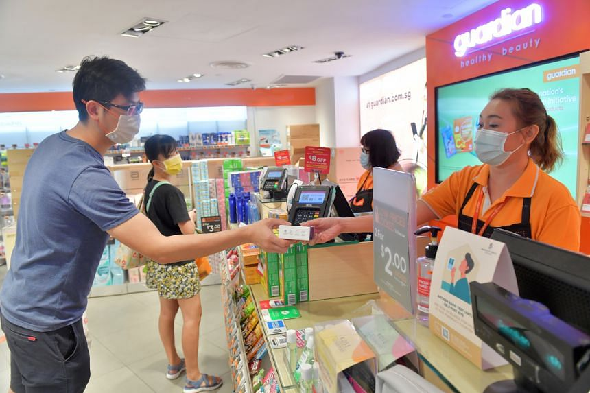 Residents can collect their devices at more than 300 FairPrice, Sheng Siong, Giant, Cold Storage, Watsons, Unity and Guardian outlets.