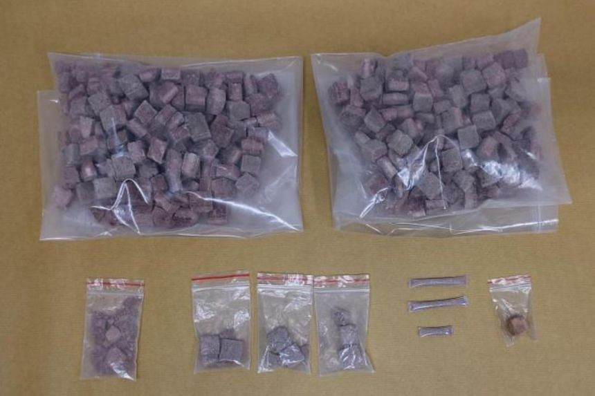 A total of about 974g of heroin was seized in the vicinity of Tampines Street 83, on July 5, 2021.