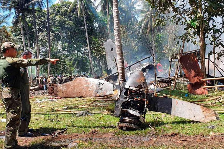 The Lockheed C-130 transport aircraft was carrying troops bound for counter-insurgency operations in the southern Philippines when it crashed.