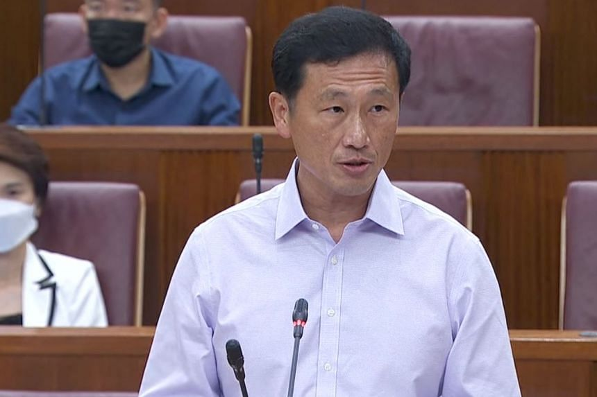 Health Minister Ong Ye Kung speaking in Parliament on July 6, 2021.