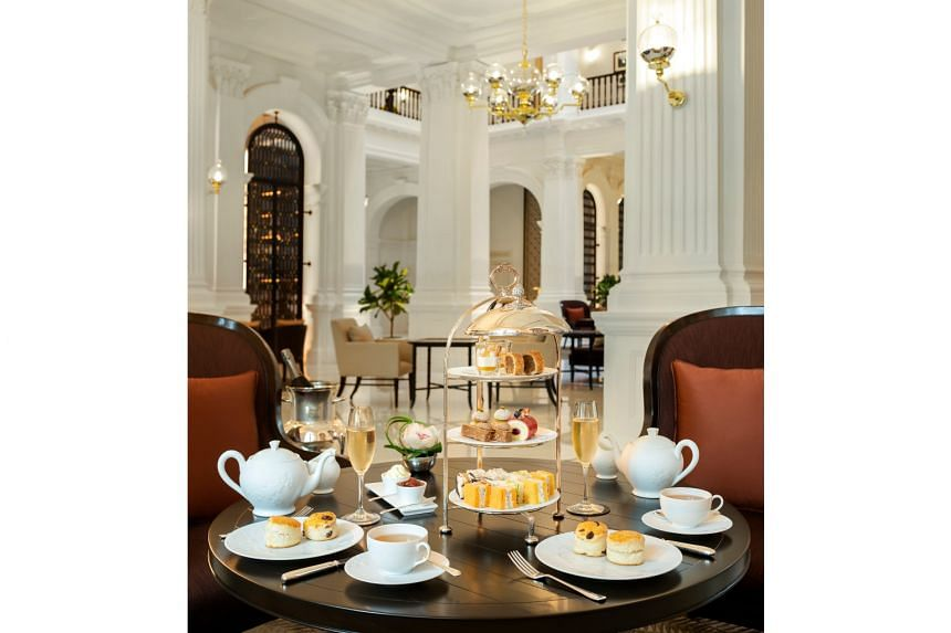 DayAway, a booking platform specialising in luxury hotel experiences, worked with Raffles Hotel Singapore to create the Sunrise Spa and Swim package, which includes two hours at the pool. The hotel's afternoon tea (above) was also popular during ph