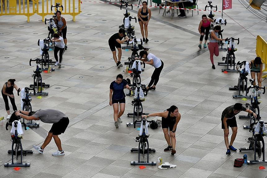 Cardiologists contacted by The Straits Times yesterday agreed that it was wise to refrain from even moderate exercise for at least a week after Covid-19 vaccination. Moderate exercise can include weight training, brisk walking, slow jogging, swimming