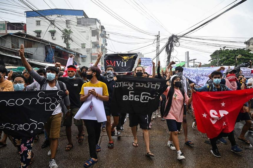 Myanmar has experienced mass protests and a brutal military response since the Feb 1 coup which ousted civilian leader Aung San Suu Kyi.