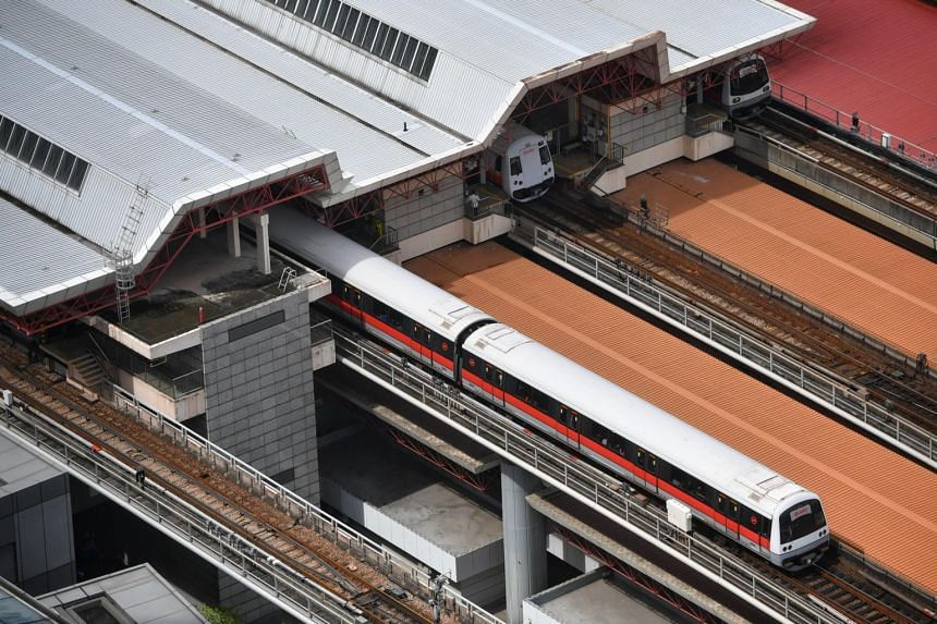 SMRT said the incident happened at about 10.15pm, and the man was unhurt.