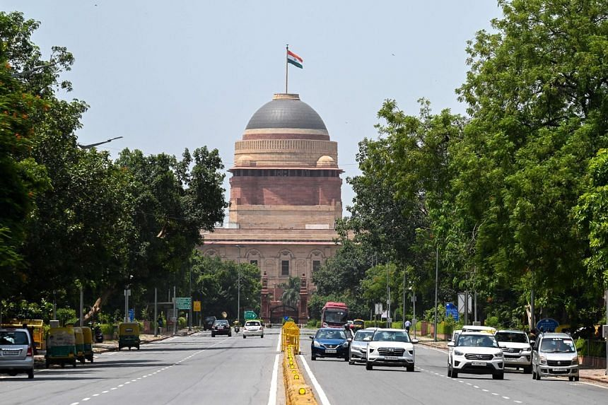 The presidential palace in New Delhi. India's new ministers will take oath during a cabinet reshuffle on July 7, 2021.