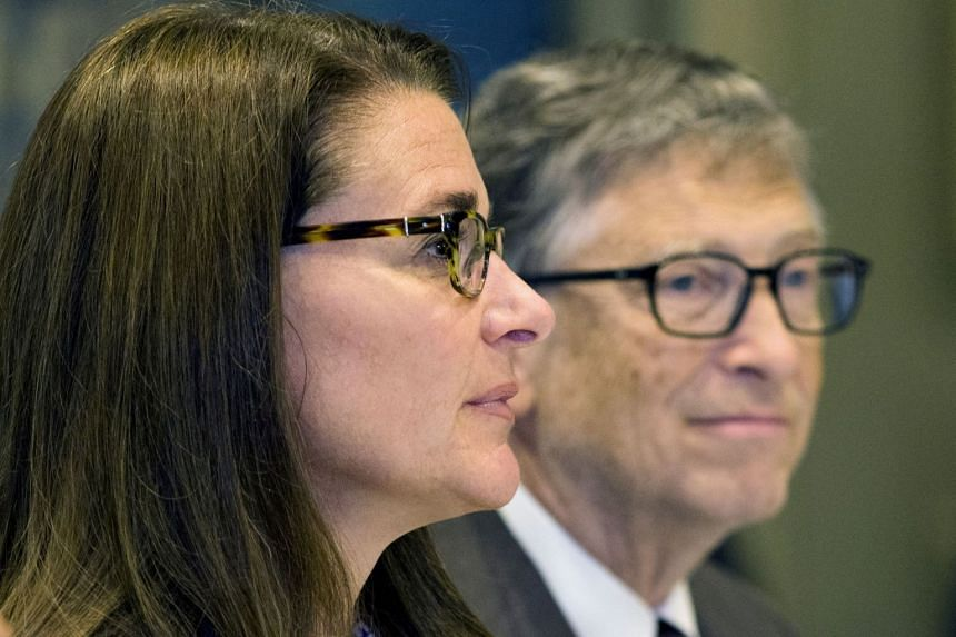 A 2015 photo shows Bill and Melinda Gates at a UN news conference in New York.