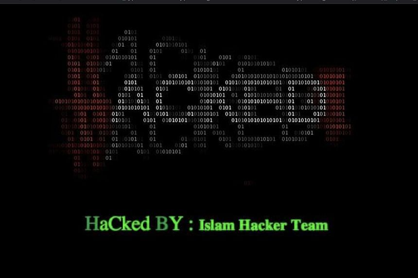 Part of the main page of Splash Productions' website after it was defaced by hackers.