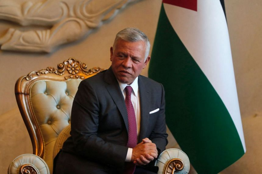 Jordan's King Abdullah II is pictured during a visit to Iraq in June 2021.