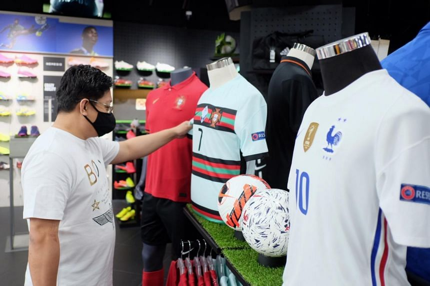 For Euro 2020, local football goods retailers have seen a decline in jersey sales as compared to past major football tournaments.