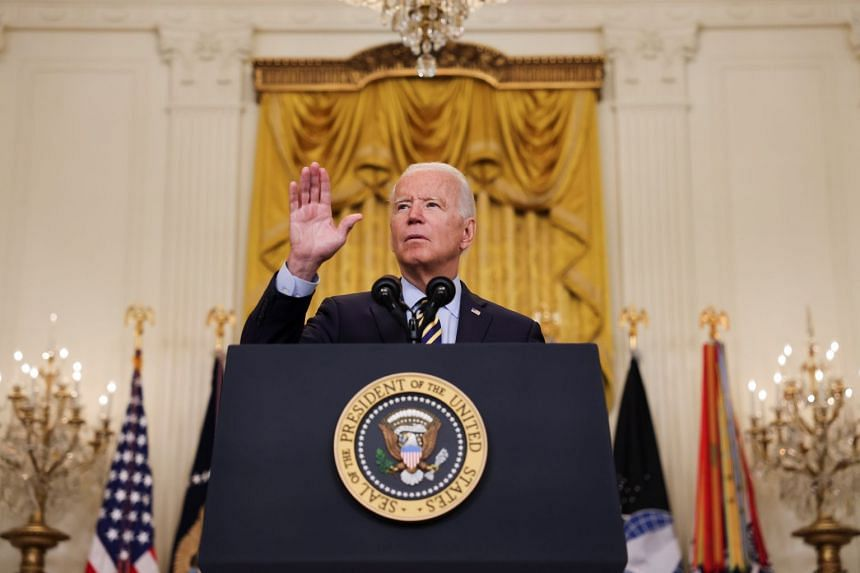 US President Joe Biden delivers remarks on the administration's continued drawdown efforts in Afghanistan.