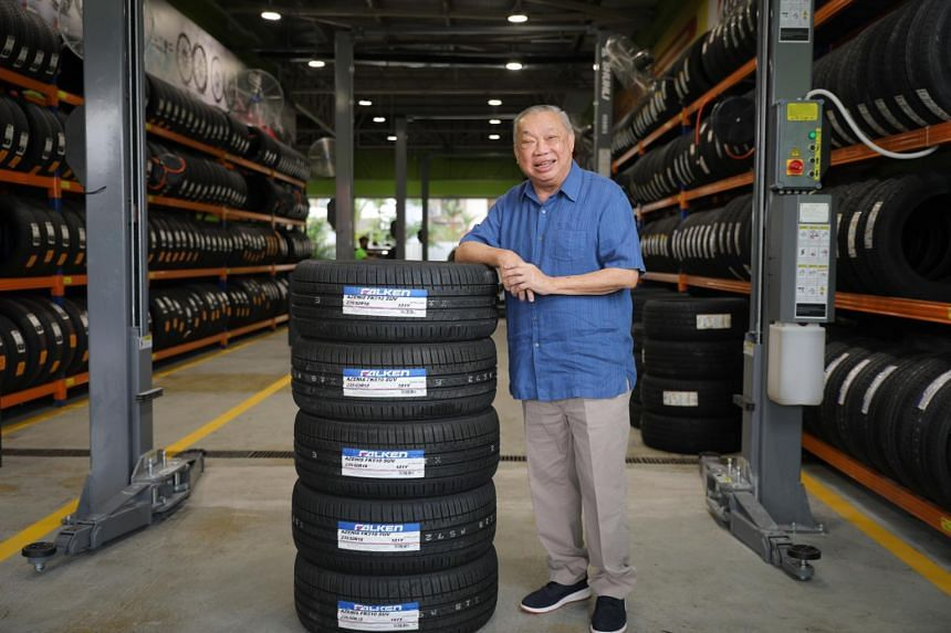 Stamford Tyres president Wee Kok Wah at the opening of the firm's Serangoon Gardens branch, on July 8, 2021.