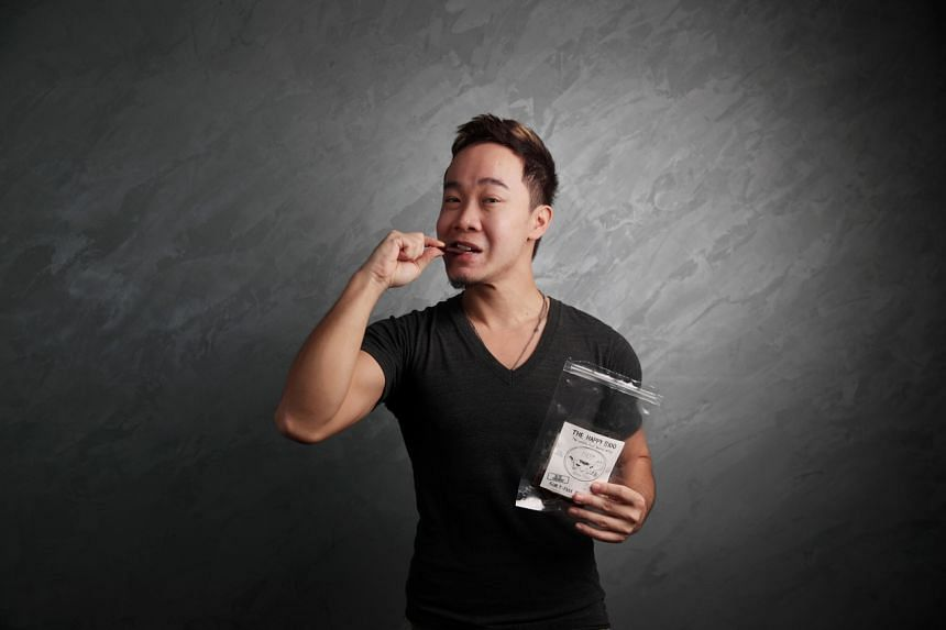 A one-man show, Andrew Lim marinades, packs and delivers orders.