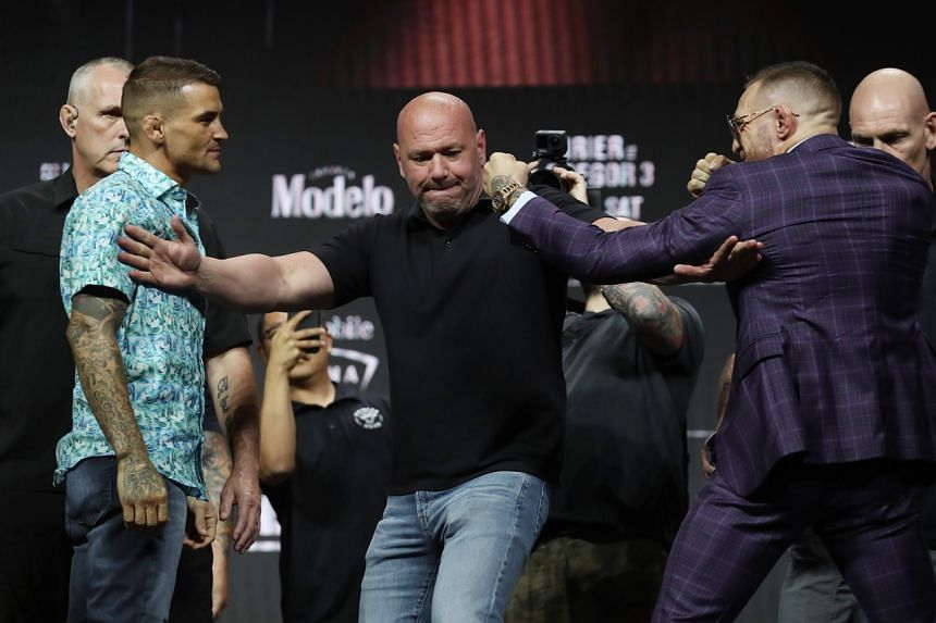 Dustin Poirier (left) and Conor McGregor (right) will meet in their trilogy fight at UFC 264 at T-Mobile Arena in Las Vegas on July 10, 2021.