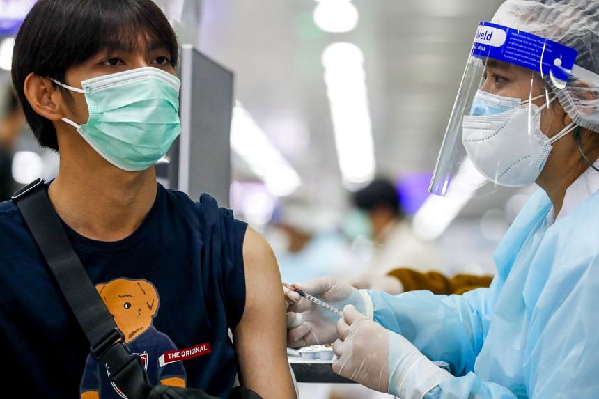 It offered 1,800 slots for doses of the Moderna vaccine at 1,650 baht (S$68) apiece.