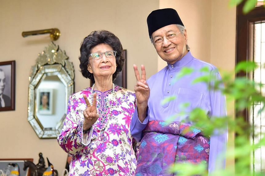 Dr Mahathir and his wife Tun Siti Hasmah Mohamad Ali. The former premier celebrated his 96th birthday on July 10.