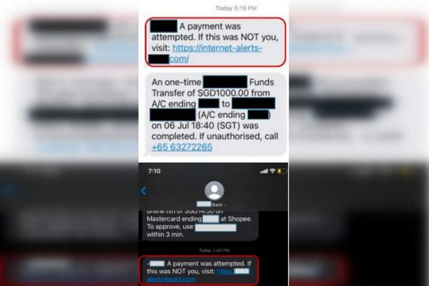 Police said victims of this latest scam variant would typically be informed that there were payment attempts detected from their bank accounts.