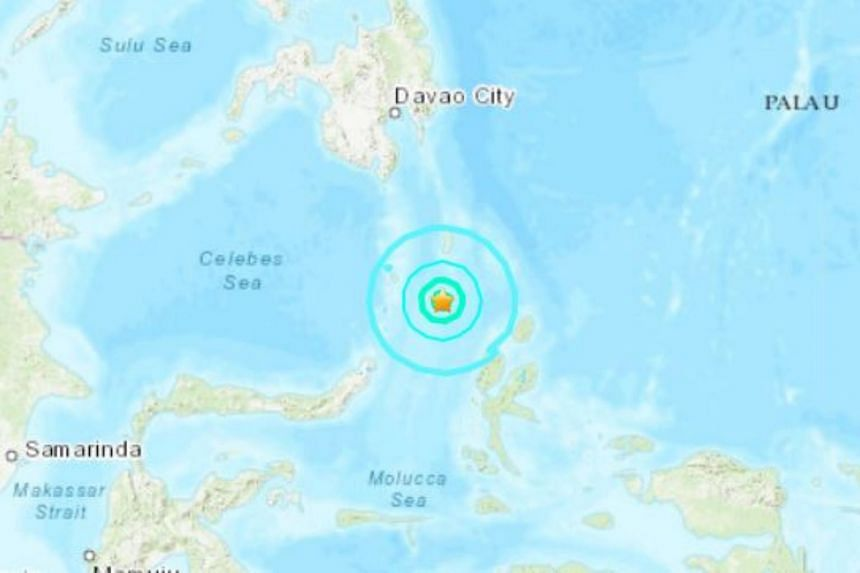 The quake hit 258km north-east of the city of Manado in North Sulawesi at a depth of 68km.
