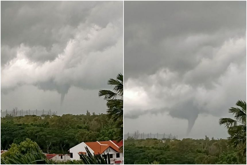 Facebook user Anj Arcega Subion also spotted the waterspout from her home in Riviera Residences near Upper East Coast Road at 7:03am.