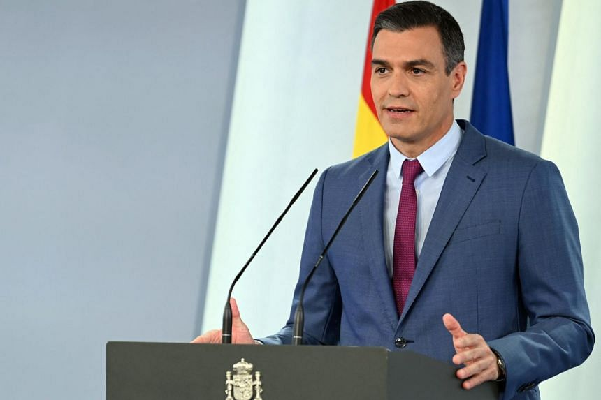 """Spanish Prime Minister Pedro Sanchez said the reshuffle represented """"a generational renewal""""."""