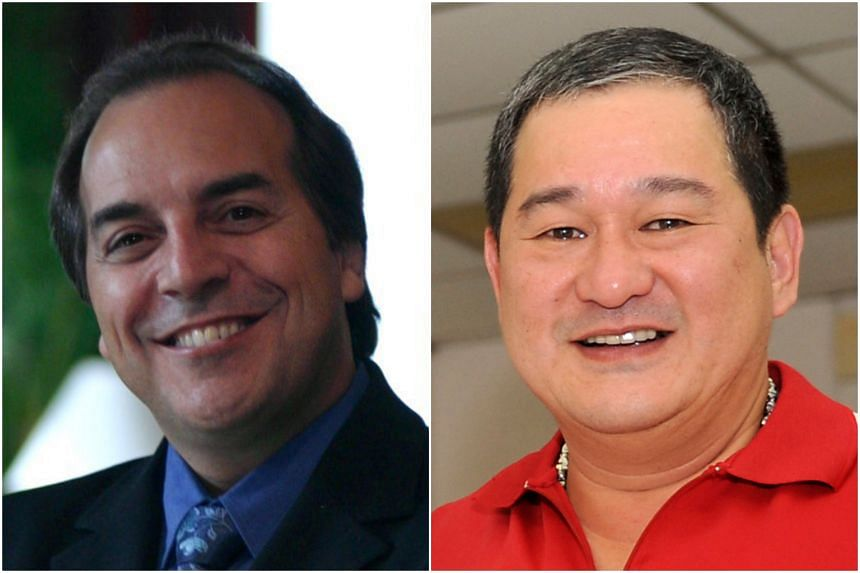 """Dr Marco Aurelio Moura De Faria Correa (left) had sued Mr Laurence Wee (right) and businessman Sukamto Sia claiming they failed to pay him $1.08 million for his alleged """"contribution and agreed share of profits""""."""