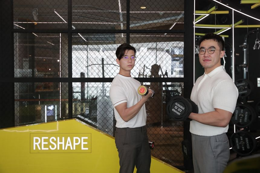 Co-founders of Reshape Space Dong Haoran (left) and Zhao Hongwei.