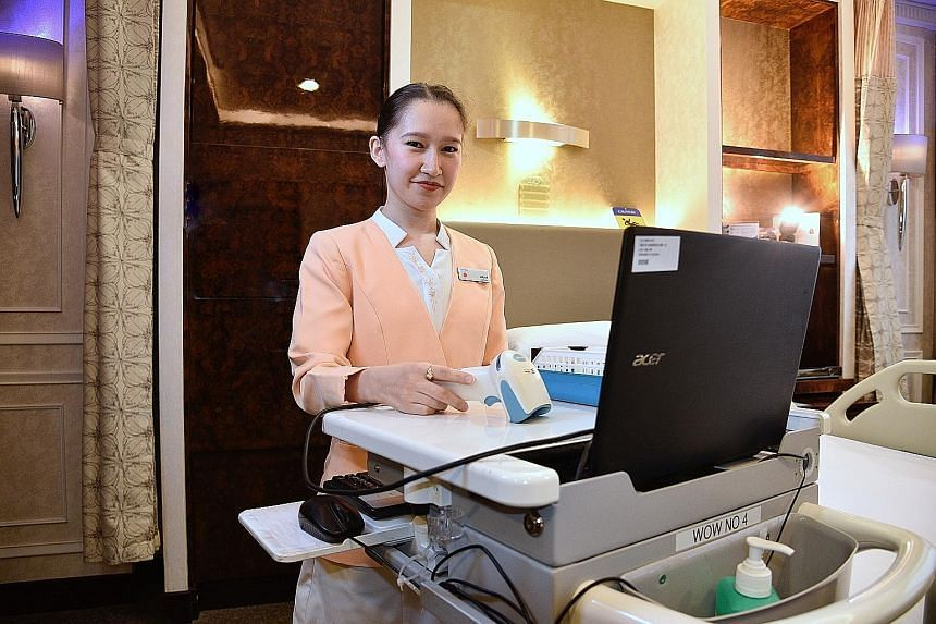 Ms Altynai Muratbek Kyzy works as a nurse in the VIP ward at Gleneagles Hospital.