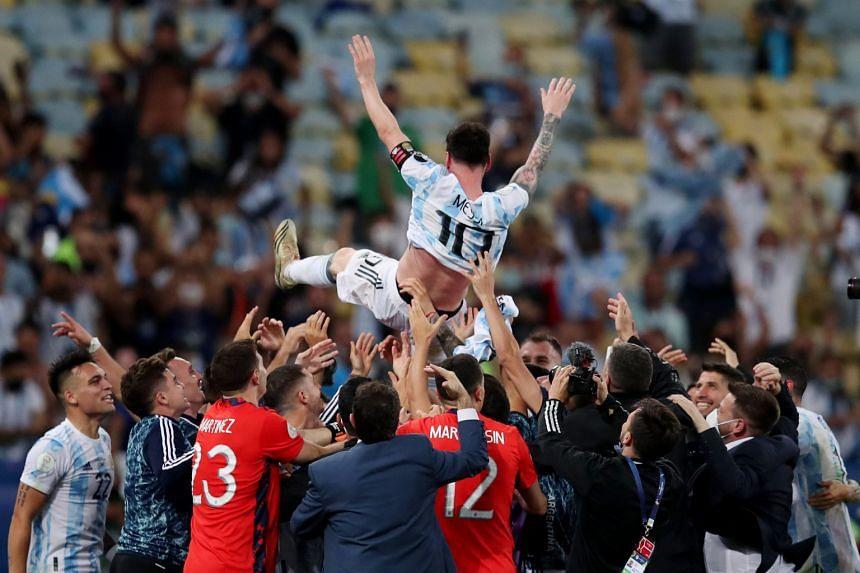 Argentina's win was a particular triumph for Barcelona striker Lionel Messi.