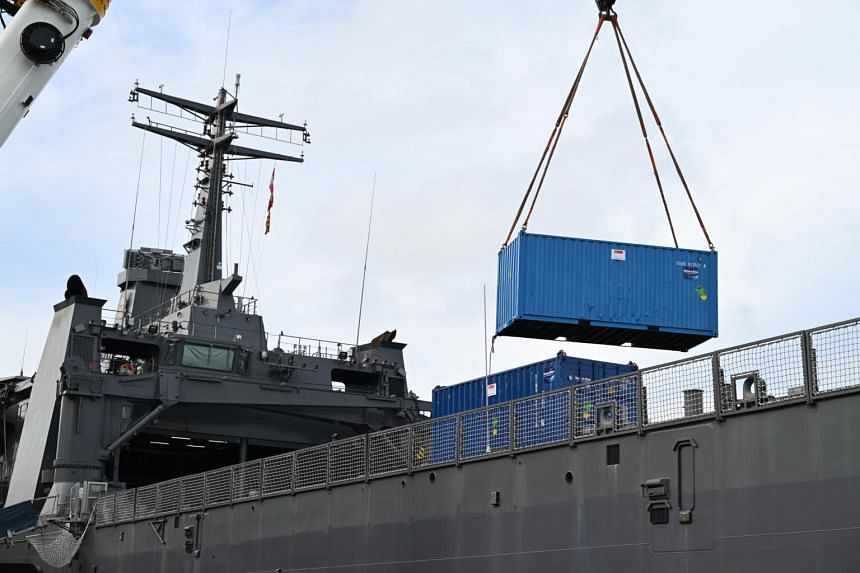 Sunday's shipment of oxygen to Indonesia follows the dispatch of two planeloads of medical supplies to Indonesia from Singapore.