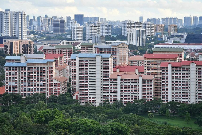 Last month, resale prices of Housing Board flats rose for the 12th straight month, with prices now just 1.7 per cent off their peak in April 2013, according to flash data from real estate portal SRX released last Thursday. ST FILE PHOTO