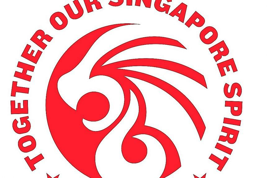Ms Tan Yun Xin's design, selected as NDP 2021's logo, weaves in the number 56 - to mark Singapore's 56th birthday. PHOTO: NANYANG POLYTECHNIC