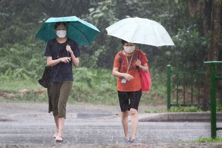 The Meteorological Service Singapore said that thundery showers could be expected in the first half of July.