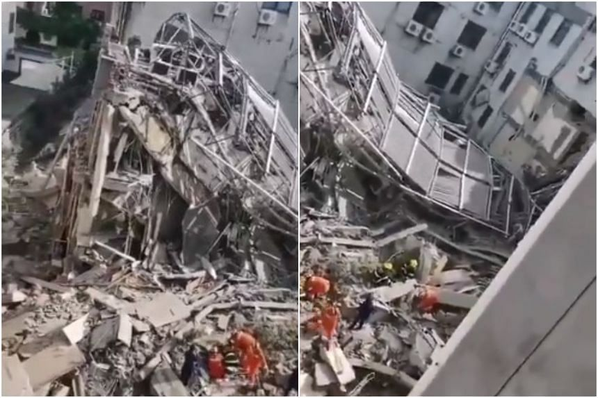 Rescuers had pulled seven survivors from the rubble of the budget Siji Kaiyuan hotel in Suzhou.