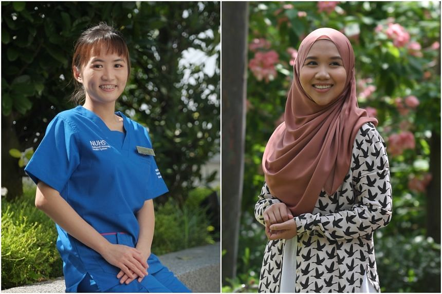 Senior staff nurses Carie Ong and Nurulhuda Abd Majid are among those who completed their part-time nursing degree courses with King's College London.