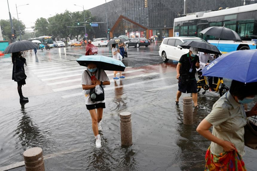 """The weather authorities had warned of """"extreme rainstorms"""" plus thunder and lightning in Beijing."""