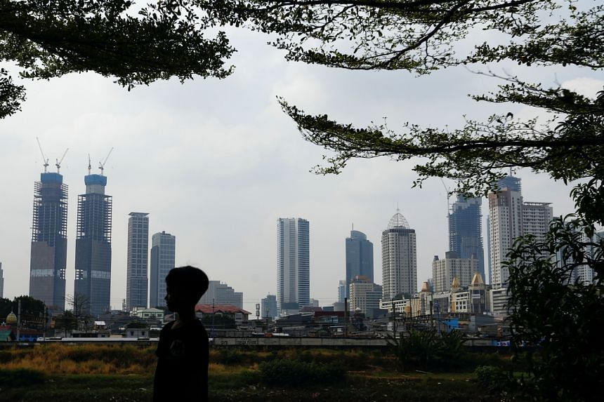 A general view of the city skyline of Jakarta on May 19, 2021.
