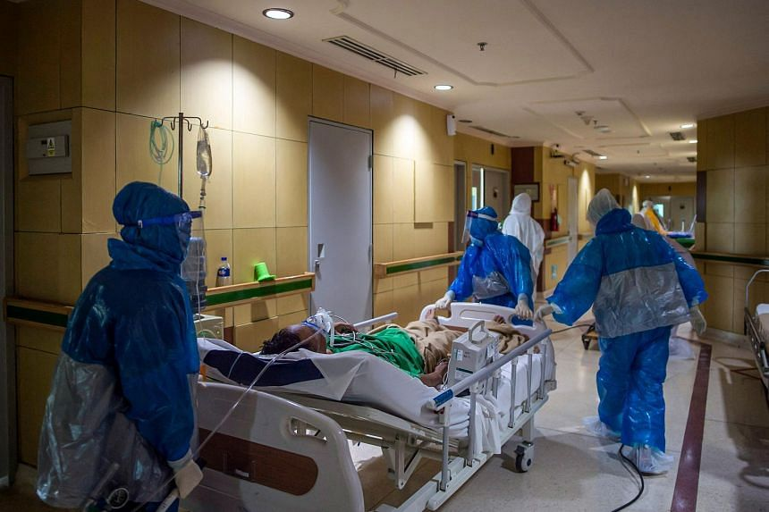 Java hospitals have been deluged in recent weeks, with many people struggling to get treatment.