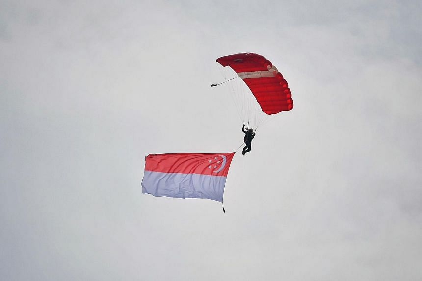 As part of National Day celebrations, the skydivers are slated to make jumps at various heartland sites on Aug 7 and 8.