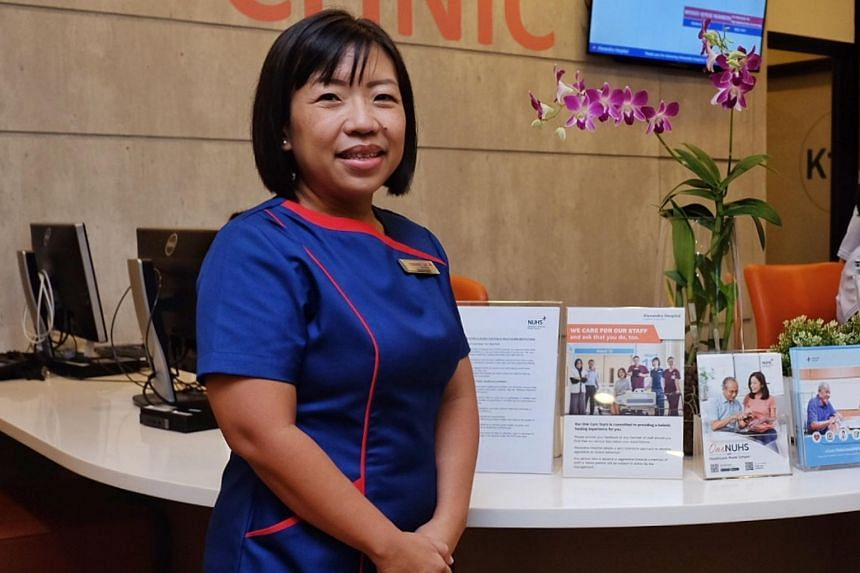Ms Margaret Lee Kwee Hiang is now piloting a project under which caregivers are involved in the patient's hospital care.