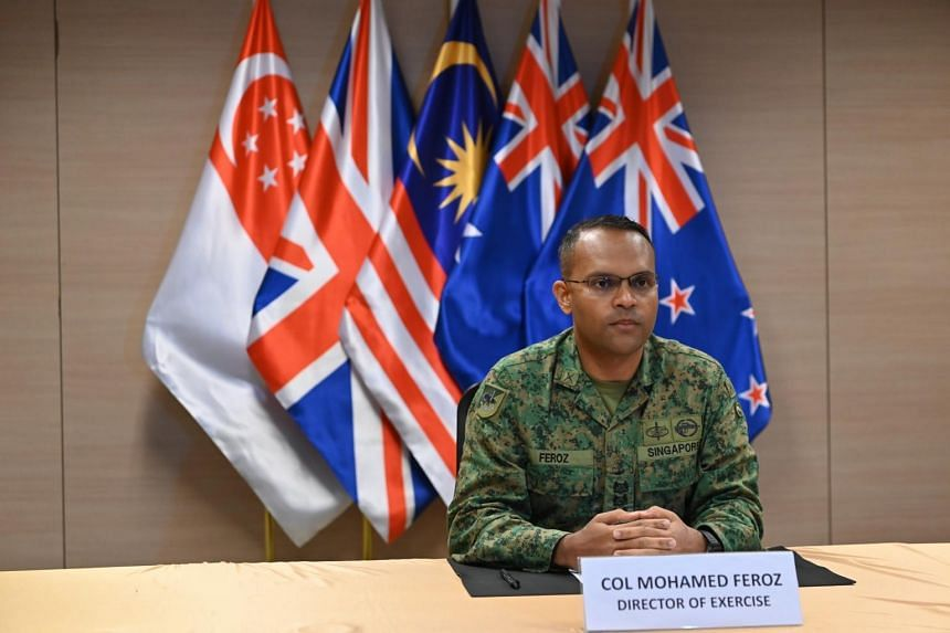 Colonel Mohamed Feroz officiating at the closing ceremony of Exercise Suman Warrior 2021 on July 14, 2021.