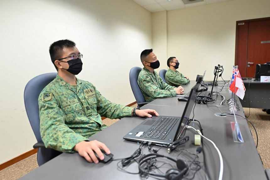 SAF personnel participating in XSW21 virtually.