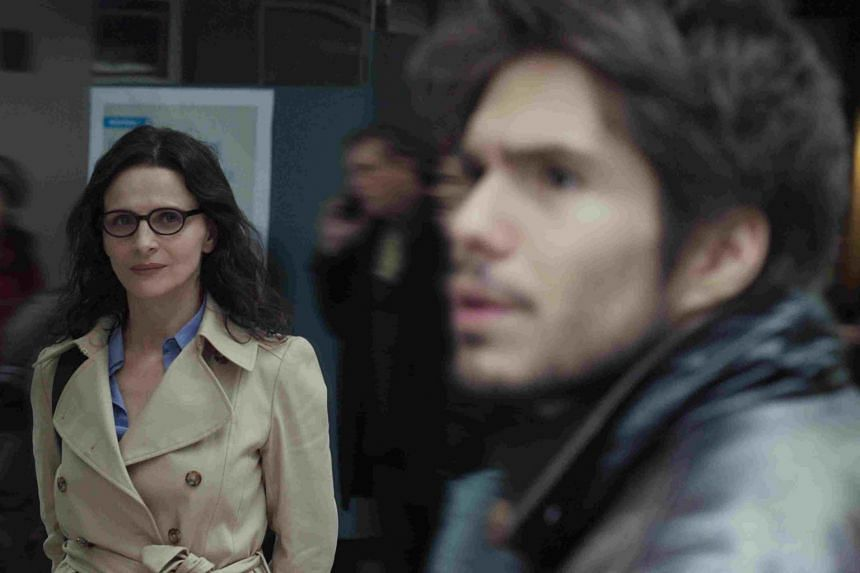 Juliette Binoche and Francois Civil in Who You Think I Am.