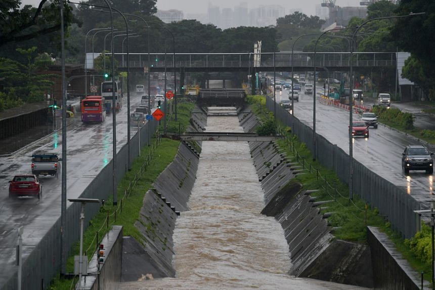 A view of Bukit Timah canal in the direction of Dunearn Road towards the city on July 13, 2021.
