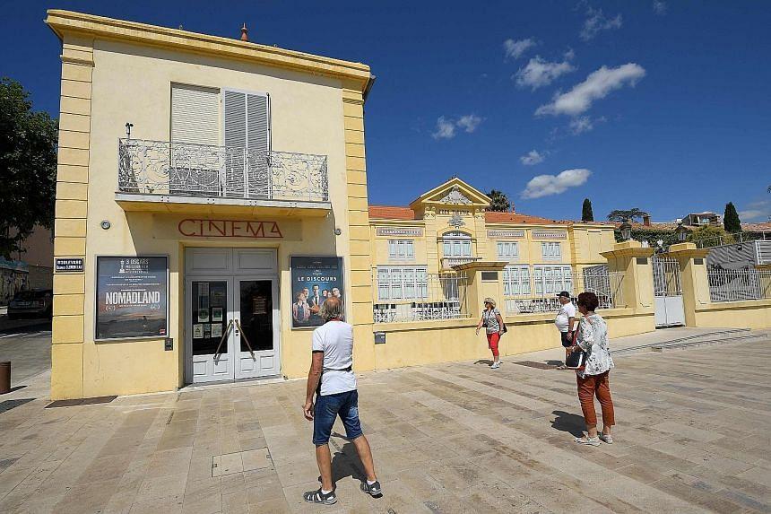 The Eden Theatre (left) is located in La Ciotat, a resort town outside Marseille.
